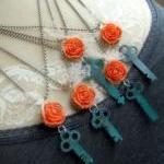 Vintage Key Necklace - Salvaged Bea..